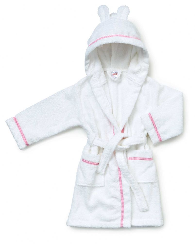 Hooded Pink Towelling baby robes